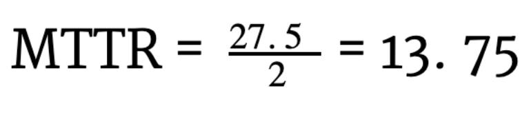cálcula mttr fórmula exemplo