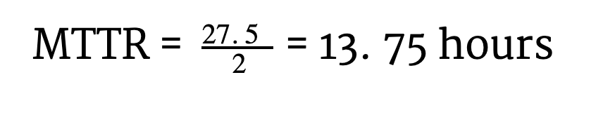 mttr calculation example
