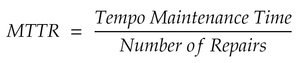 MTTR formula