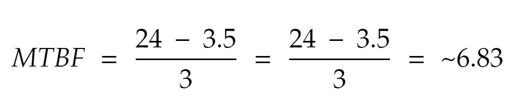 MTBF Calculation