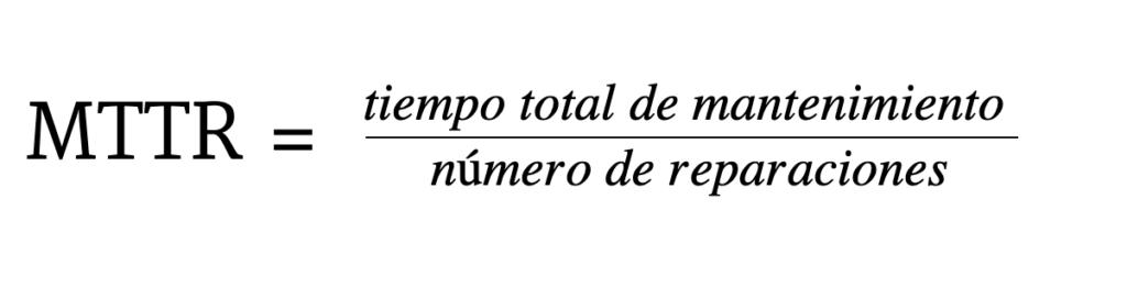 cómo calcular mttr
