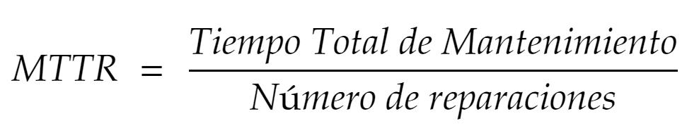 Fórmula del MTTR