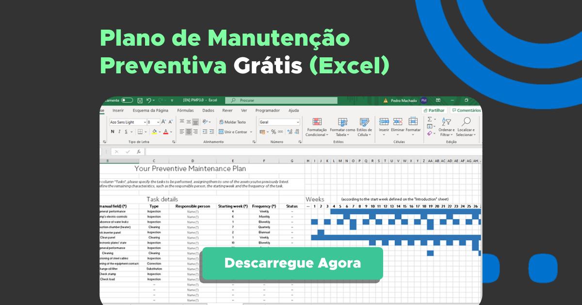Plano de Manutenção Preventiva em Excel