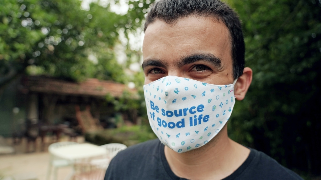 Máscara da Infraspeak para proteção da COVID-19