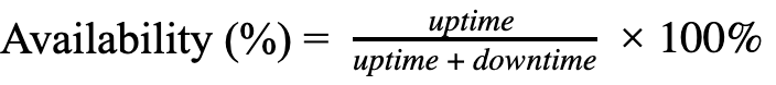 availability formula in maintenance