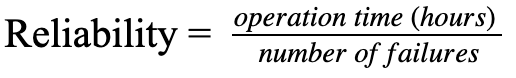how to calculate reliability