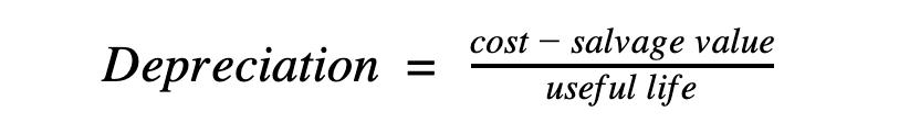 Calculate depreciation