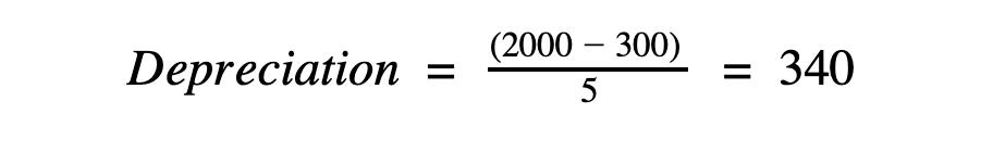 Calculate depreciation example