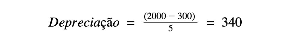 Fórmula da depreciação
