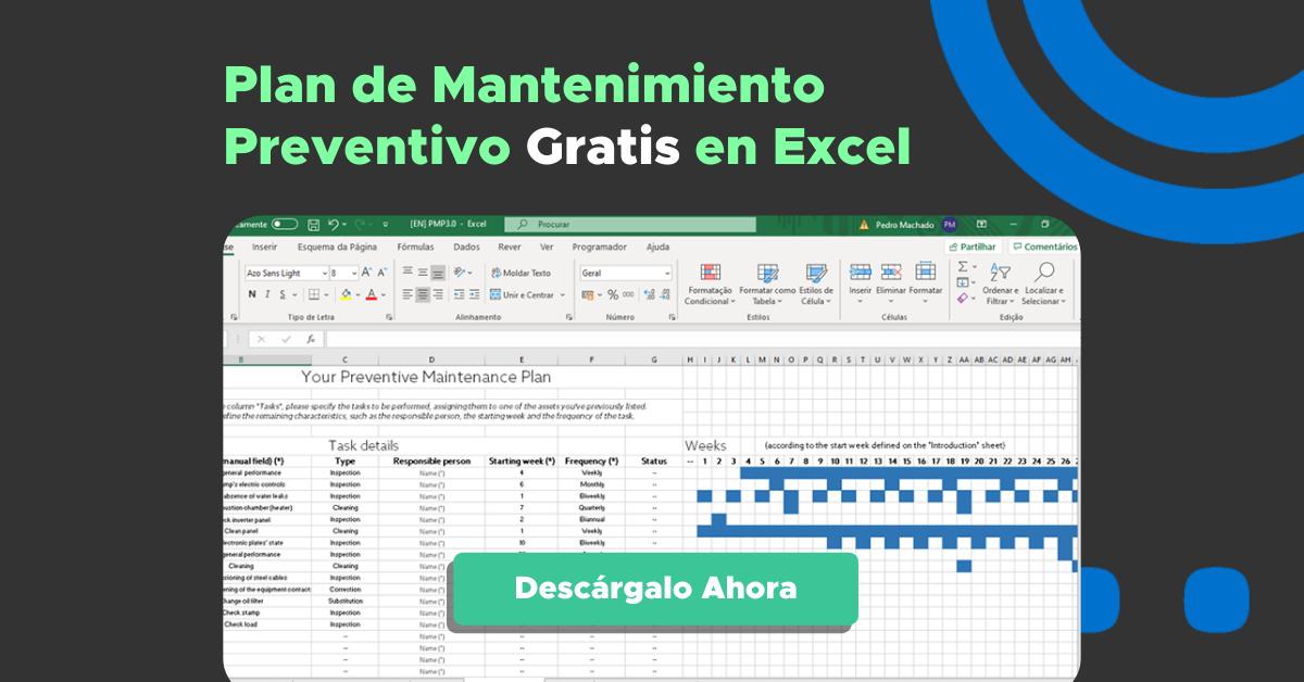 Plan de mantenimiento preventivo en Excel Gratis