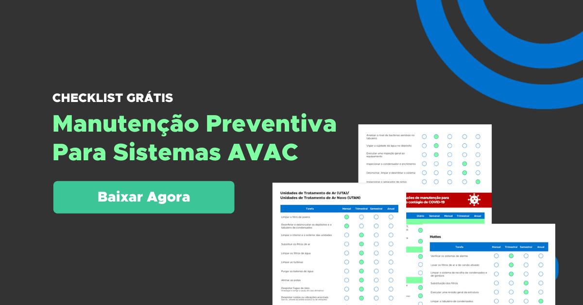 Checklist Manutenção Preventiva AVAC Baixar Grátis