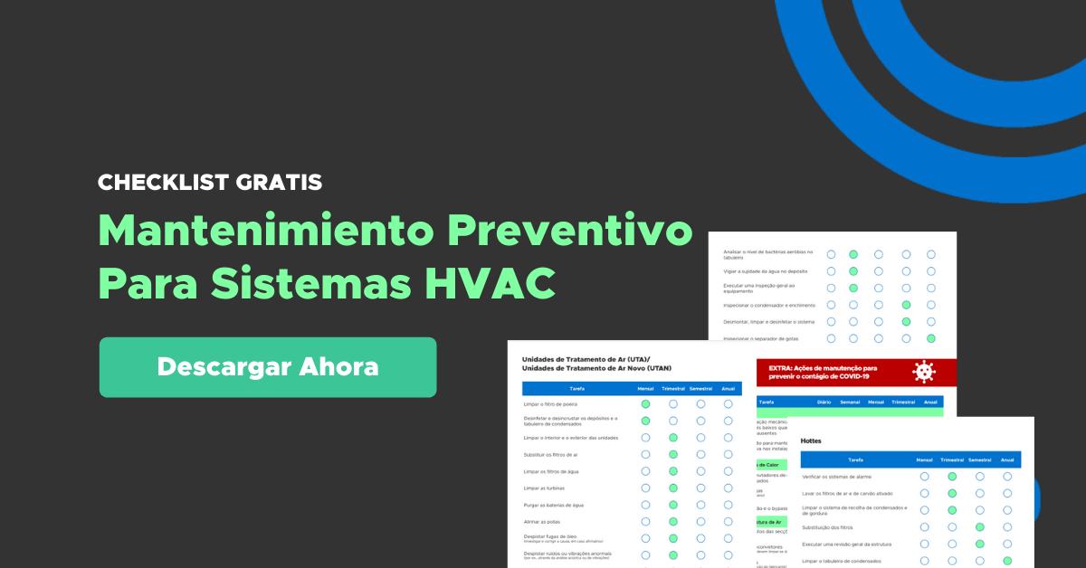 Checklist Mantenimiento Preventivo para climatización (HVAC) grátis