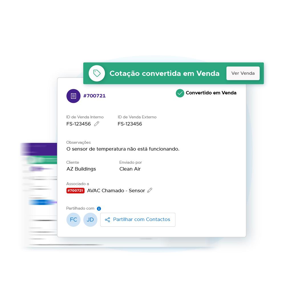 Converter cotações em vendas na Infraspeak
