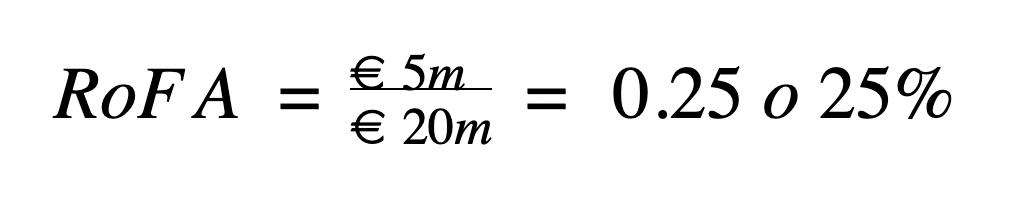 Cómo calcular el ROFA ejemplo